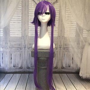 New purple cosplay wig short & long adjustable